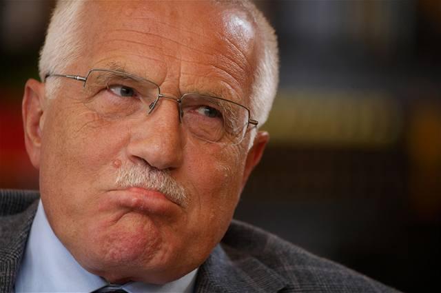 Internetová varování Václava Klause