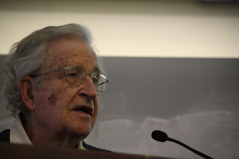 Noam Chomsky. Source: commons.wikimedia.org